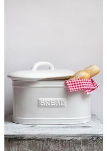 Keramický chlebník - bílý