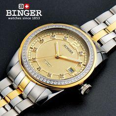 192.96$  Buy here - http://alinya.worldwells.pw/go.php?t=32547483358 - 2017 Switzerland Wristwatches BINGER 18K gold watches men luxury top brand self-wind automatic Wristwatches B5010-6
