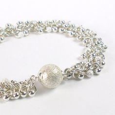 Sterling Silver Bracelet 925 Chainmaille by PuranaJewellery