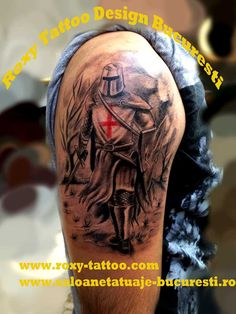 Military Medical Helmet Tattoo On Shoulder photo - 4