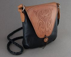 Celtic Tooled Design Soft Black Leather Purse via Etsy MXS $301.00