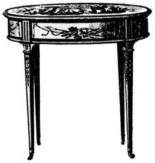 Style Louis XVI - (1775 - 1790) table bouillotte