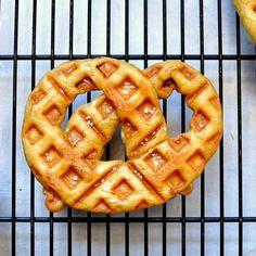 Soft Pretzel Waffles
