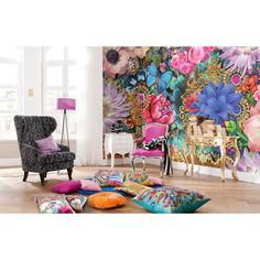 145 in. H x 100 in. W Mellimello Kevena Wall Mural, Multi-Color