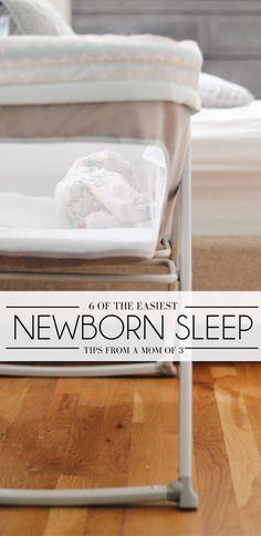 newborn sleep tips from a mom of three - help your new baby sleep through the night {spon}