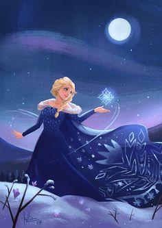*0* uau! novo vestido da Elsa lindo de mais!! ;)