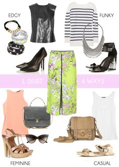 1 Skirt/4 Ways - we love this bright patterned print!