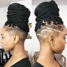 Half head crochet braids 100 crochet box braids with loops crochet twists braid braided individual Box Braids Hairstyles, Shaved Side Hairstyles, Braided Hairstyles For Black Women, Braids For Black Hair, Wedding Hairstyles, Braided Mohawk Hairstyles, Braided Ponytail, Medium Hairstyles, African Hairstyles