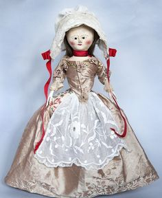 Beautiful Early Wooden Doll