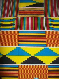 Kente print African fabric