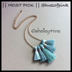 Ombré Tassel Necklace NEW (did not come with tags) | Lovely Shades of Aqua Tassels | Gold Tone Chain | Perfect for Summer! | NO...I DO NOT TRADE Miss Ivy Pearl Jewelry Necklaces