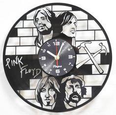 PINK FLOYD Vinyl Clock Pink Floyd Art Modern Clock Home Decor