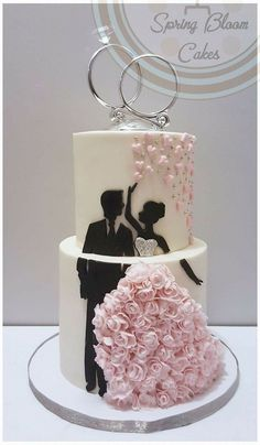 Rectangular Wedding Cakes Cakes Eye-catching Spring I . The Effective Pictures We Offer You About spring wedding cake pink A quality picture can tell Engagement Cake Design, Engagement Cakes, Wedding Cake Prices, Wedding Cake Designs, Cake Wedding, Wedding Paper, Wedding Rings, Beautiful Wedding Cakes, Beautiful Cakes