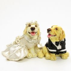 http://stores.ebay.com/madamepOmm-BlueWitch  GOLDEN RETRIEVER WEDDING CAKE TOPPERS DOG LOVER GIFT CENTERPIECE COLLECTIBLES.