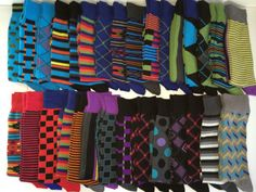 Alex: New Men's Hot Sox Socks Crew Dress Colors Patterns 10 13 Happy Socks | eBay