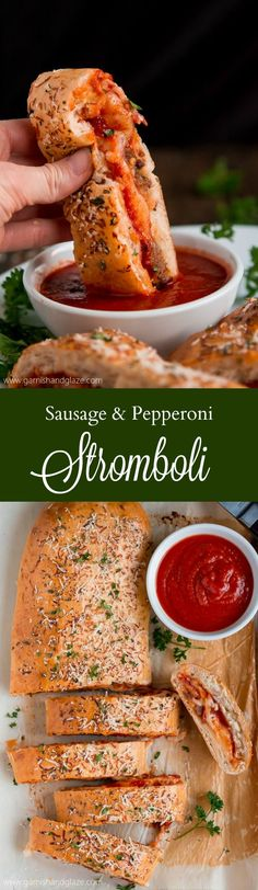 #ad Calling all meat & cheese lovers! This Sausage & Pepperoni Stromboli is for you! Warm meat and melted cheese all wrapped up in seasoned pizza dough. #RealCheesePeople @Sargento Cheese