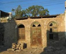 Post war building in coastal city Berbera  Somaliland