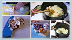 Pierogi - mushroom and sauerkraut filling Homemade Perogies, Italian Wife, Sauerkraut, Oatmeal, Stuffed Mushrooms, Breakfast, Food, The Oatmeal, Stuff Mushrooms