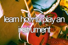 Learn how to play an instrument - flute & piano
