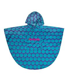 This Aqua Big Dot Poncho is perfect! #zulilyfinds