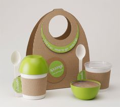 Creative To-Go Soup packaging - how cute! And it makes sense!