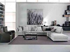 déco de salon gris et blanc : idée de couleurs de meubles