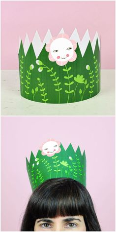Free Printable Mother's Day Crown. So cute for a spring or Earth Day or nature theme party for kids too!