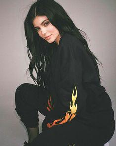 Black Flames Crew Neck Set | The Kylie Jenner Shop