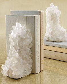 Quartz Bookends at Horchow.....so beautiful......would love to have these!
