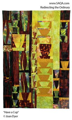 Art quilt by Joan Dyer #artquilts #SAQA