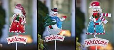 """Holiday Icons Welcome Garden Stake,Metal and Glass,8.75x2.5x42 Inches,Assorted 3 by Ashley. $74.99. Metal and Glass. The size is: 8.75""""x2.5""""x42"""". Assorted 3. Satisfaction ensured. Classic design. A great way to spruce up your outdoor area. Offering the best quality items on the market today. Dimensions: 41.7 x 8 x 2. Venue: Garden. Theme / Season: Winter.. Save 33% Off!"""