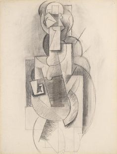 Woman with Guitar by Pablo Picasso, Guggenheim Museum Solomon R. Guggenheim Museum, New York © 2016 Estate of Pablo Picasso/Artists Rights Society (ARS), New York Medium: Graphite on paper Pablo Picasso, Picasso Drawing, Picasso Paintings, Picasso Art, Malaga, Cubist Movement, Museums In Nyc, Painting Collage, Spanish Artists