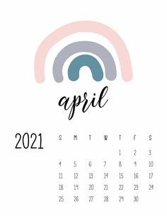 Happy Rainbows April 2021 Calendar perfect for your iphone wallpaper, wall, planner or desk! It's the perfect free printable calendar! Free Calendar, Print Calendar, Kids Calendar, Calendar Design, 2021 Calendar, Monthly Planner Printable, Printable Calendar Template, Calendar Wallpaper, Bullet Journal Ideas Pages