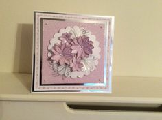 Stamped flower card