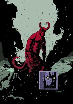 Hellboy in a Mignola Style by Alexander Fechner