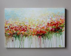 ORIGINAL flower paintingoriginal artoriginal abstract by artbyoak1