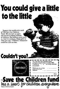 Save the Children. 12 December, 1969