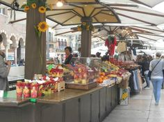 Piazza delle Erbe (market of fresh fruits and vegetables) - Verona, Italy