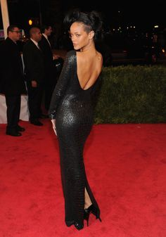 Va-Va-Voom! See the Sexiest Dresses to Hit the Red Carpet in 2012 : Rihanna's Tom Ford dress is something seriously sexy to behold, as proven at this year's Met Gala.