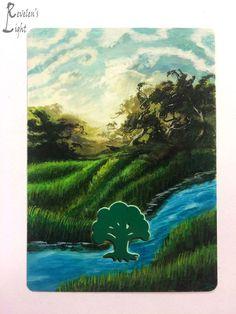 Forest - Full Art Land - MTG Alter - Revelen's Light Altered Art Magic Card #WizardsoftheCoast