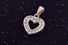Zlatý přívěsek srdce bílé se zirkony P050 2,0g Washer Necklace, Jewelry, Jewlery, Jewerly, Schmuck, Jewels, Jewelery, Fine Jewelry, Jewel