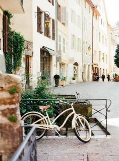 Stone streets of Annecy, France.