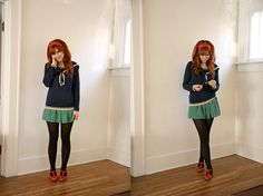 Love this nautical sweater on Katie... fingers crossed that ModCloth restocks it!
