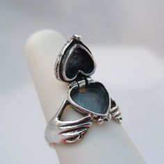 Claddagh Heart Poison Ring - 925 Sterling Silver