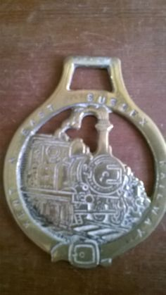 Vintage Kent and East Sussex Railway Steam Train horses brass brasses tack circa 1950's Purchase in store here http://www.europeanvintageemporium.com/product/vintage-kent-and-east-sussex-railway-steam-train-horses-brass-brasses-tack-circa-1950s/