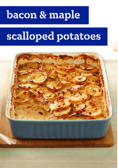 Bacon & Maple Scalloped Potatoes – If you're like us, potato recipes are always the answer. French fries and hash browns are good, but scalloped potatoes? They're great. And if you've been searching for the best-ever scalloped potatoes recipe, look no further. It's right here—in all of its bacon-studded, maple-flavored glory. Eat now, thank us later.