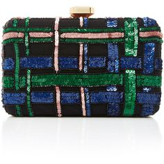 Elie Saab Embroidered Clutch (3.445 BRL) ❤ liked on Polyvore featuring bags, handbags, clutches, black, chain-strap handbags, embroidered clutches, embroidery handbags, chain strap purse and embroidered purse