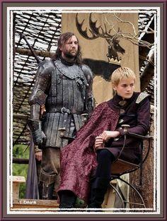 Sandor Clegane (Rory McCann) & Joffrey (Jack  Gleason)