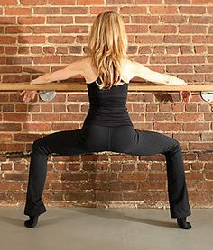Ballet Second Position (also a plie)