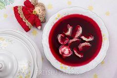 Barszcz czerwony Magdy Gessler - PrzyslijPrzepis.pl Cooking Recipes, Pudding, Desserts, Christmas, Food, Kochen, Tailgate Desserts, Xmas, Deserts